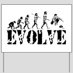 Curling Evolution Yard Sign