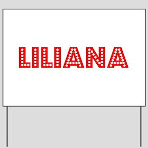 Retro Liliana (Red) Yard Sign