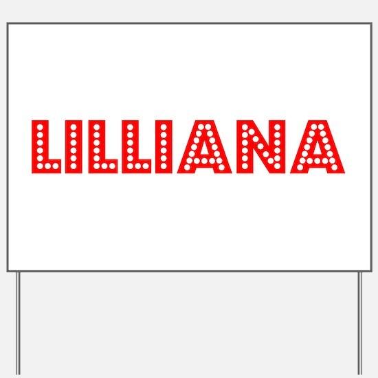 Retro Lilliana (Red) Yard Sign