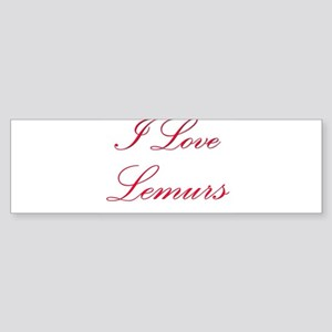 I Love Lemurs Bumper Sticker