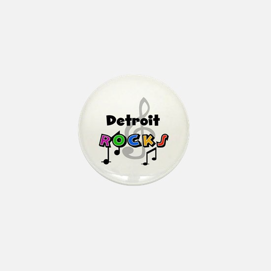 Detroit Rocks Mini Button