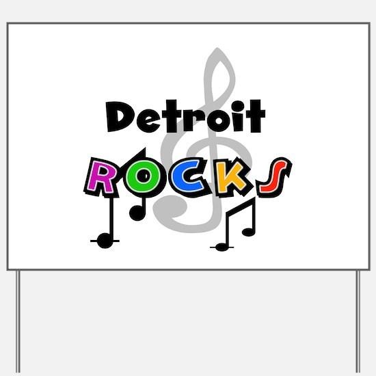 Detroit Rocks Yard Sign