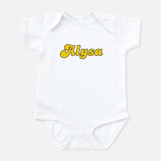 Retro Alysa (Gold) Infant Bodysuit
