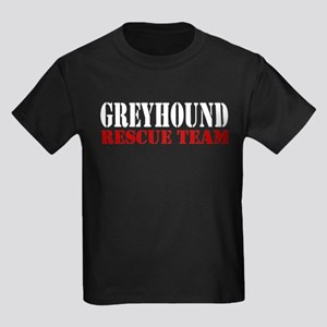 Greyhound (race dog) Rescue Kids Dark T-Shirt