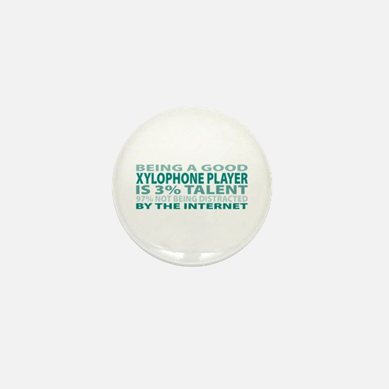 Good Xylophone Player Mini Button