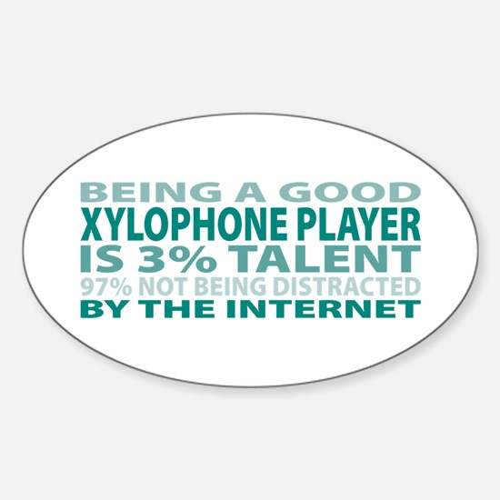 Good Xylophone Player Oval Decal