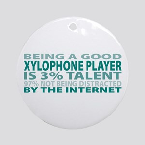 Good Xylophone Player Ornament (Round)