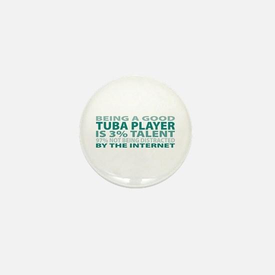 Good Tuba Player Mini Button