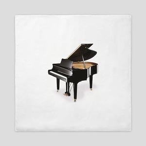 black grand piano Queen Duvet
