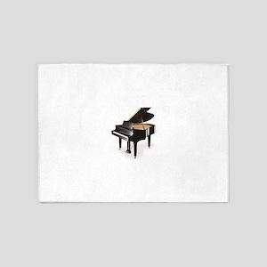 black grand piano 5'x7'Area Rug