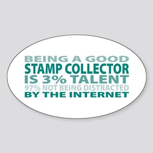 Good Stamp Collector Oval Sticker