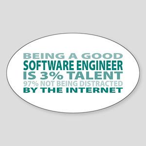 Good Software Engineer Oval Sticker