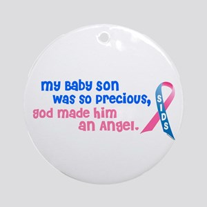 Angel 1 (Baby Son) Ornament (Round)