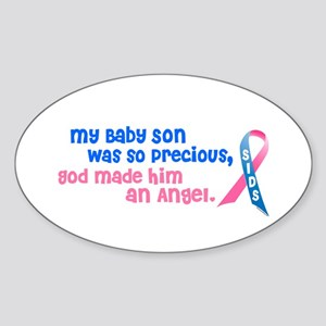 Angel 1 (Baby Son) Oval Sticker