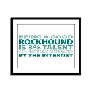 Good Rockhound Framed Panel Print