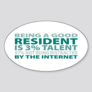 Good Resident Oval Sticker