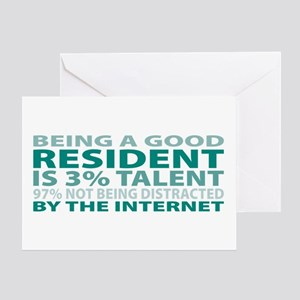 Good Resident Greeting Card
