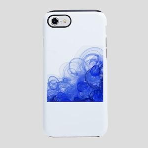 Navy Blue Swirling Smoke iPhone 8/7 Tough Case