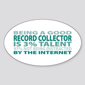 Good Record Collector Oval Sticker