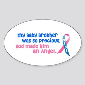 SIDS Angel 1 (Baby Brother) Oval Sticker