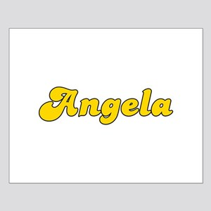 Retro Angela (Gold) Small Poster