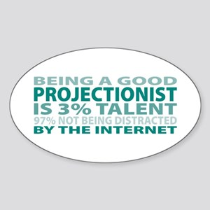 Good Projectionist Oval Sticker