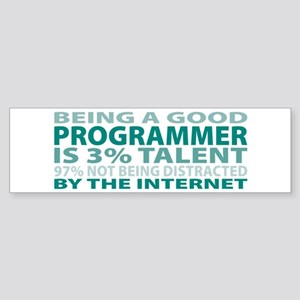Good Programmer Bumper Sticker