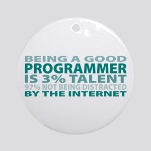 Good Programmer Ornament (Round)