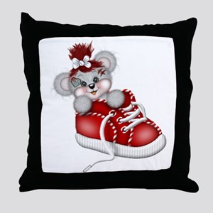 LITTLE SNEAKER (red) Throw Pillow