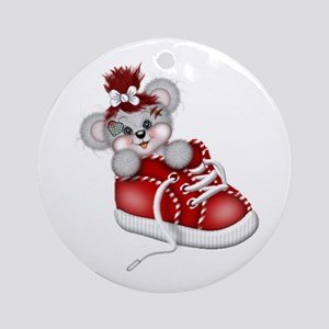 LITTLE SNEAKER (red) Ornament (Round)