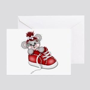 LITTLE SNEAKER (red) Greeting Card