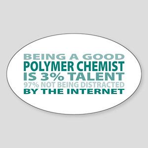 Good Polymer Chemist Oval Sticker