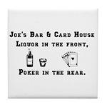 Joe's Bar & Card House. Liqu Tile Coaster