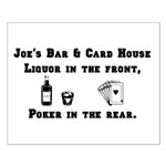 Joe's Bar & Card House. Liqu Small Poster