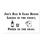 Joe's Bar & Card House. Liqu Mini Poster Print