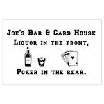 Joe's Bar & Card House. Liqu Large Poster