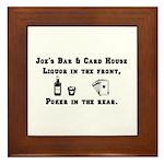 Joe's Bar & Card House. Liqu Framed Tile