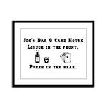 Joe's Bar & Card House. Liqu Framed Panel Print