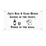 Joe's Bar & Card House. Liqu Banner