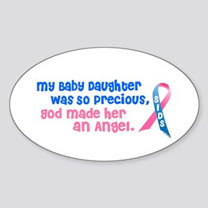 SIDS Angel 1 (Baby Daughter) Oval Sticker