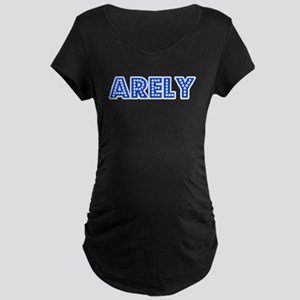 Retro Arely (Blue) Maternity Dark T-Shirt