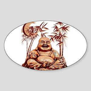 Riyah-Li Designs Happy Buddha Sticker (Oval)