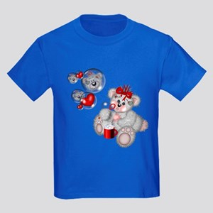 BLOWING BUBBLES Kids Dark T-Shirt