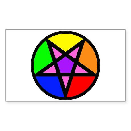 Gay Satanist Rectangle Sticker