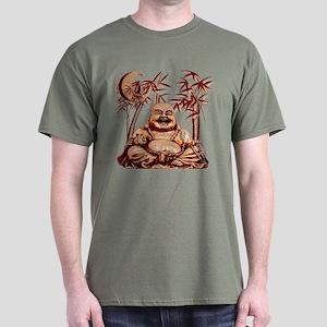 Riyah-Li Designs Happy Buddha Dark T-Shirt