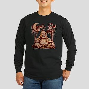 Riyah-Li Designs Happy Buddha Long Sleeve Dark T-S