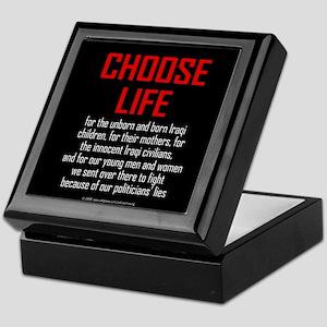 Choose Life, Iraqis, soldiers Keepsake Box