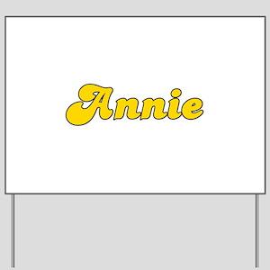 Retro Annie (Gold) Yard Sign