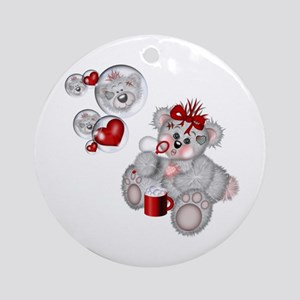 BLOWING BUBBLES Ornament (Round)