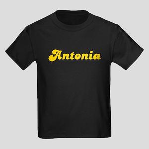 Retro Antonia (Gold) Kids Dark T-Shirt